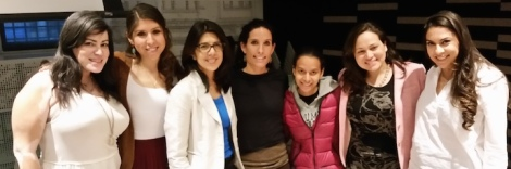 """CUNAHJ members with Carmen Alarcón Salvat, J'08, at the screening of her documentary """"Guadalupe Sin Pasaporte."""""""